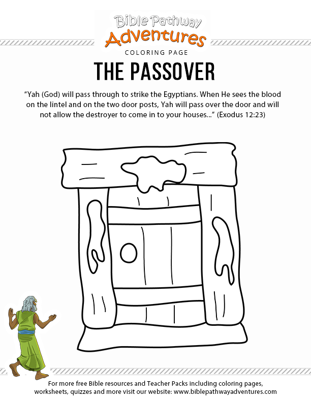 The Passover Passover Lesson Bible Coloring Pages Bible Crafts For Kids