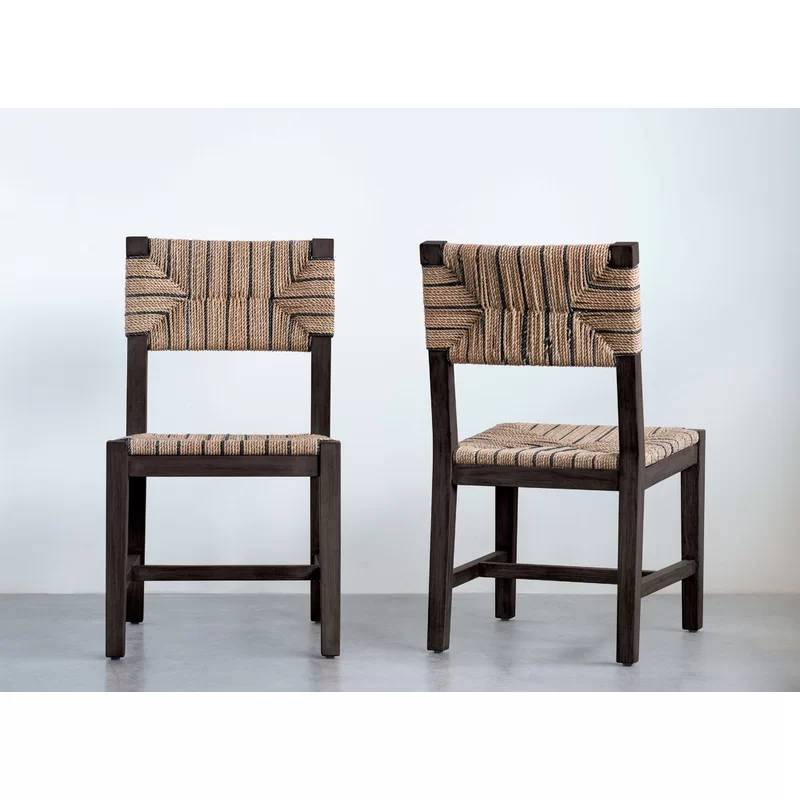 Allenbie Mango Solid Wood Dining Chair Solid Wood Dining Chairs Dining Chairs Woven Dining Chairs