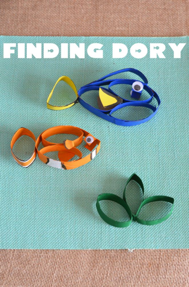 Finding dory craft toilet paper roll crafts paper roll for Finding dory crafts for preschoolers