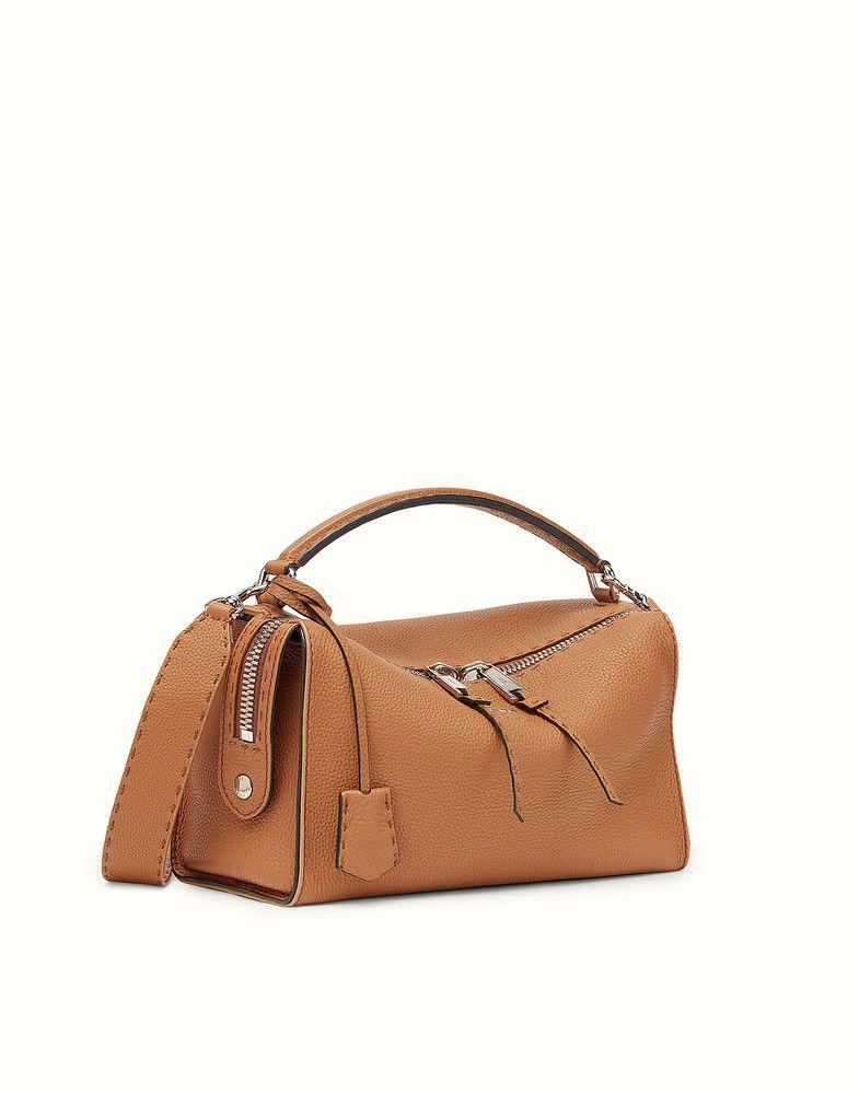 8b11f5952668 FENDI LEI SELLERIA BAG - Toffee Roman leather Boston bag - view 2 detail