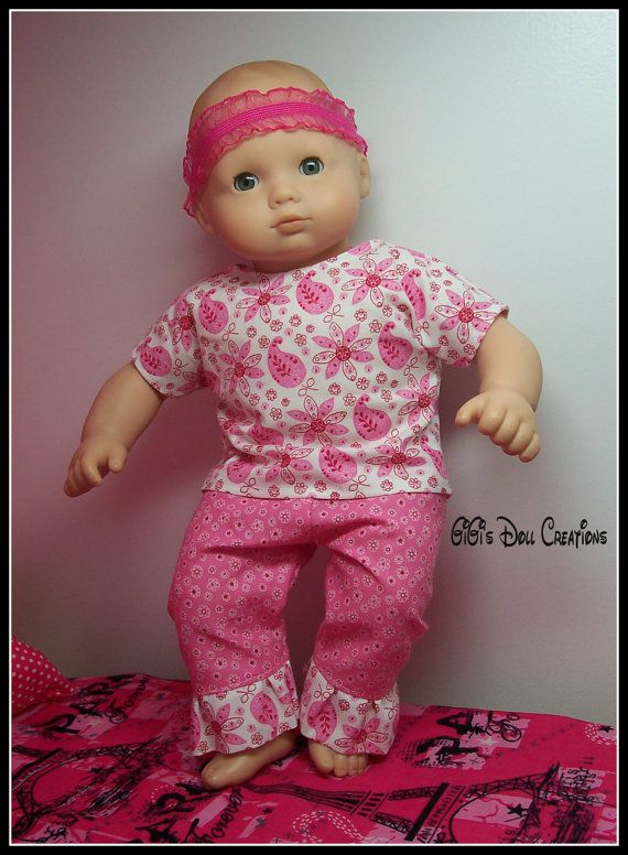 Pink Paisley ruffled outfit for Bitty Baby by GiGisDollCreations ...