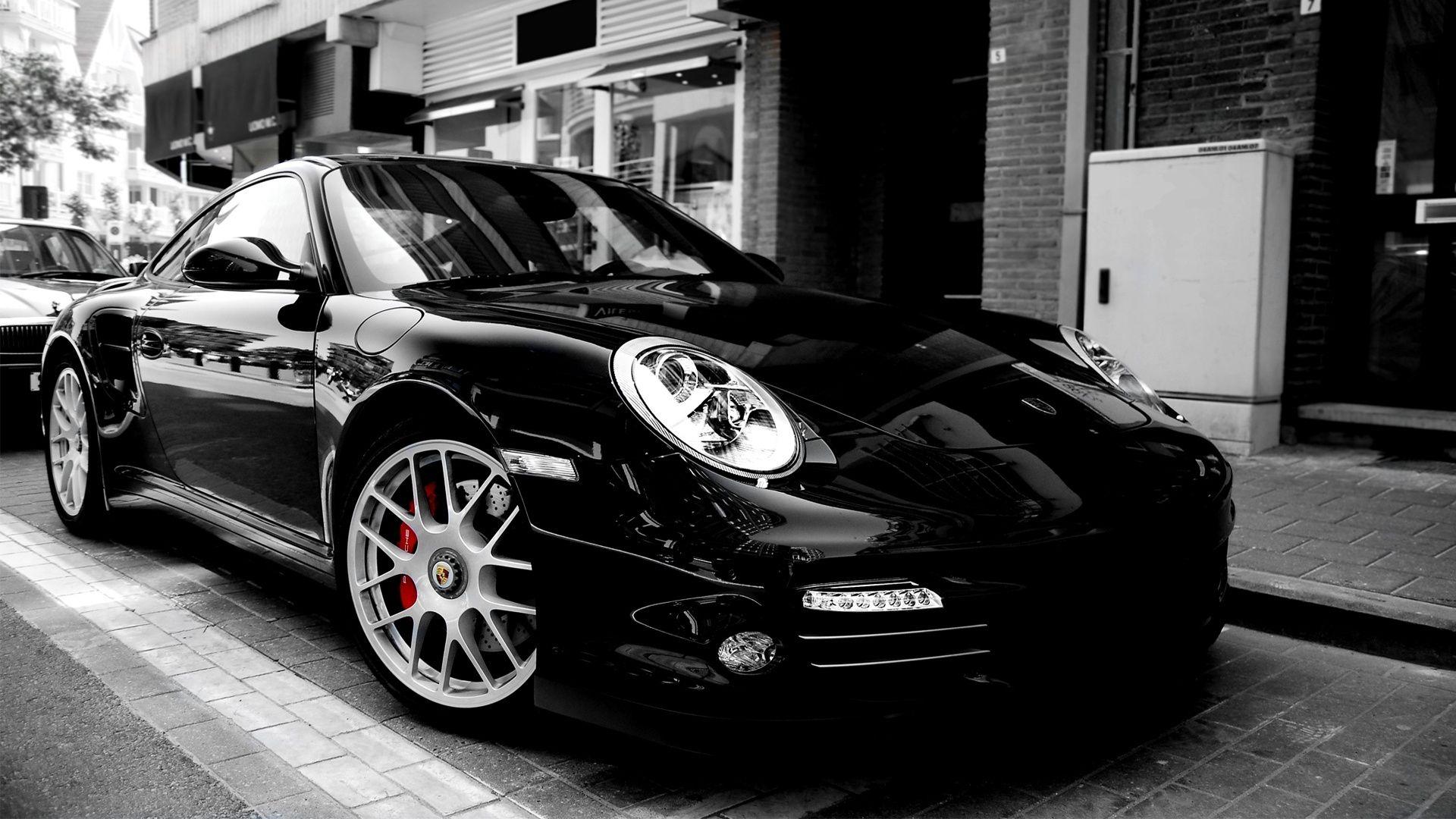 Hd Porsche Wallpapers Porsche 997 Turbo Black Porsche Car Wallpapers