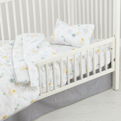 Lullaby Moon & Star Toddler Bedding - From The Home Decor Discovery Community at www.DecoandBloom.com