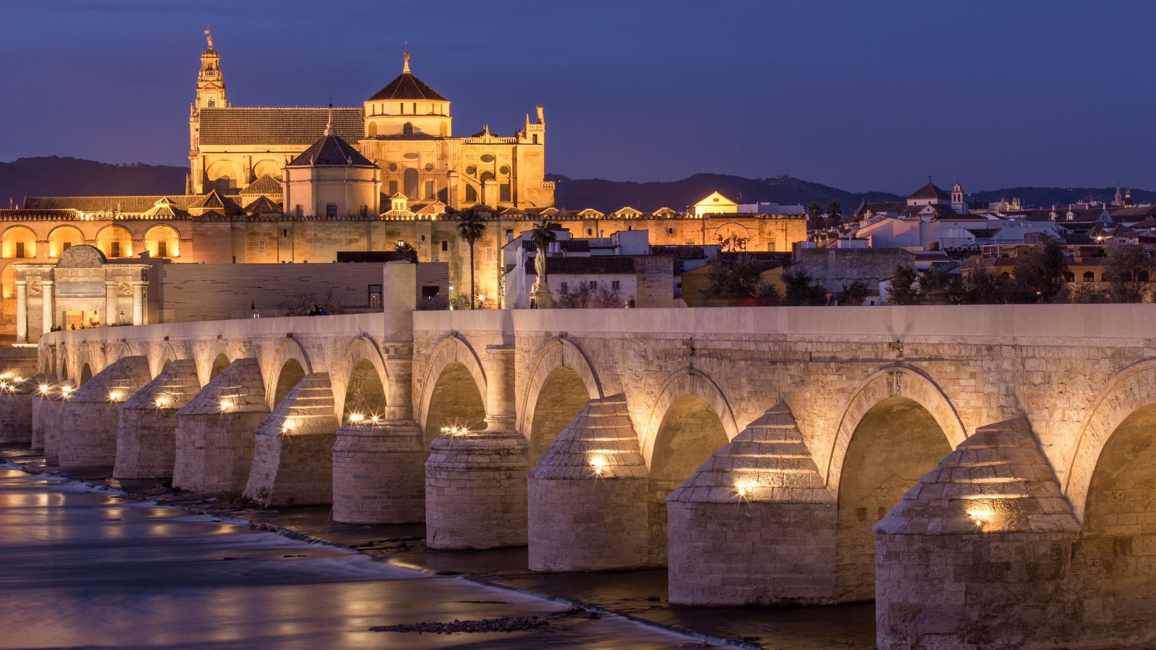 #bridge #night cordoba bridge great mosque #spain #travel #europe #mosque