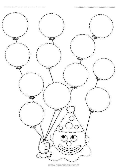 Daire Kavrami Calisma Sayfasi Okuloncesitr Preschool Activites De Graphisme Dessins En Pointilles Cahier De Vacances Maternelle