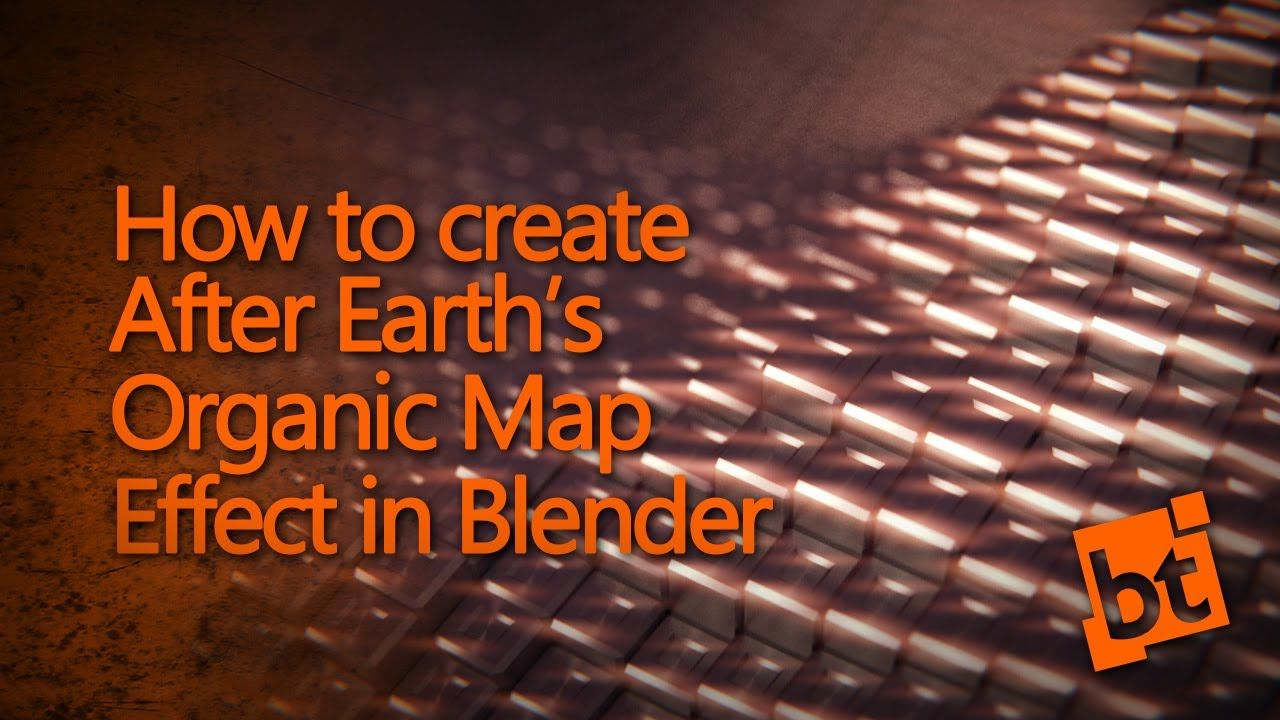How to create After Earth's organic map effect