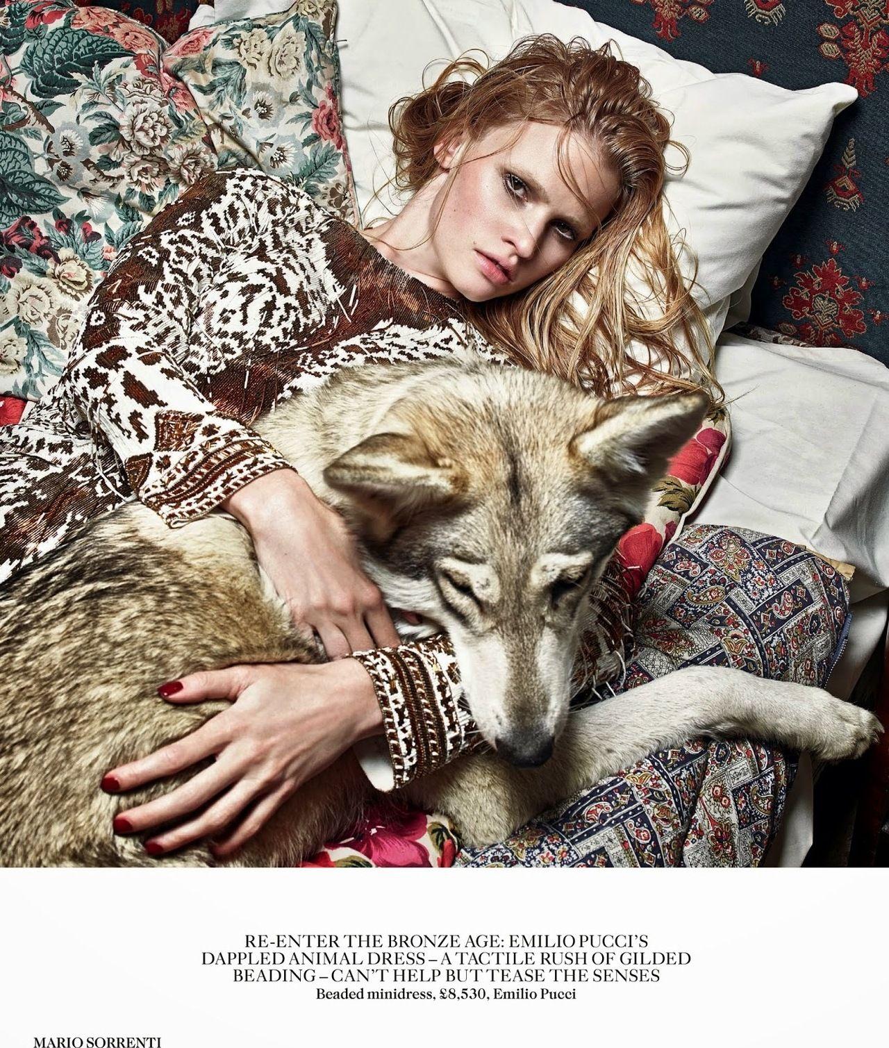 "serendipity2012: ""Vogue UK September 2014 Model: Lara Stone Photographer: Mario Sorrenti """