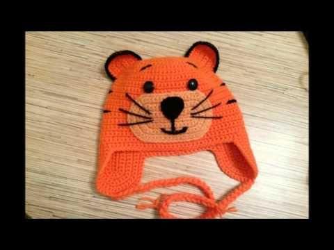 Gorros con forma de gato a crochet - YouTube | Tejidos | Pinterest ...