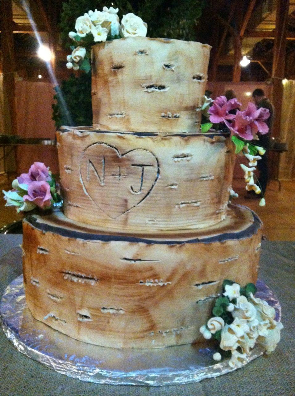 Birch tree engagement cake cakes pinterest engagement cakes