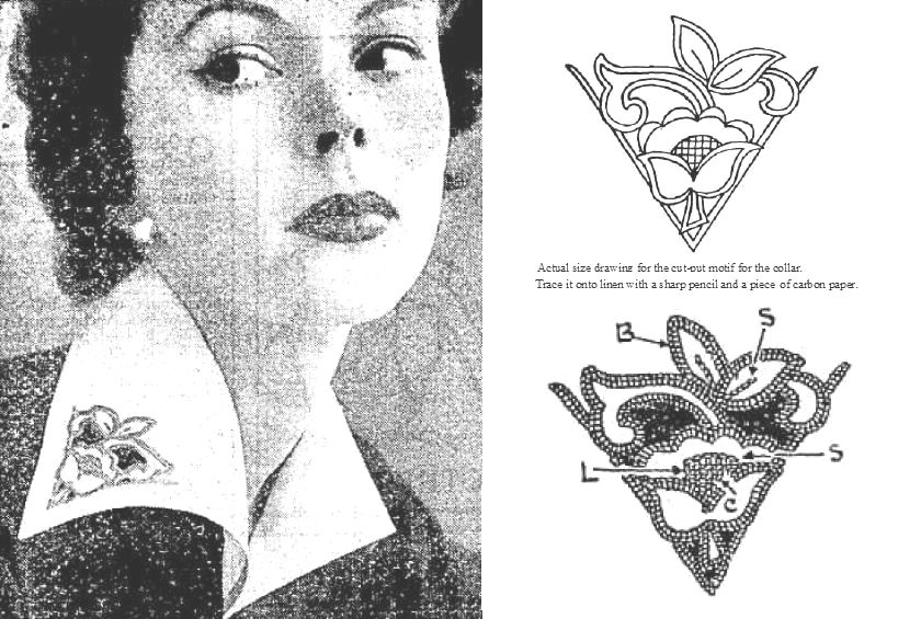 Vintage Fashion Techniques: Embroidered Collar