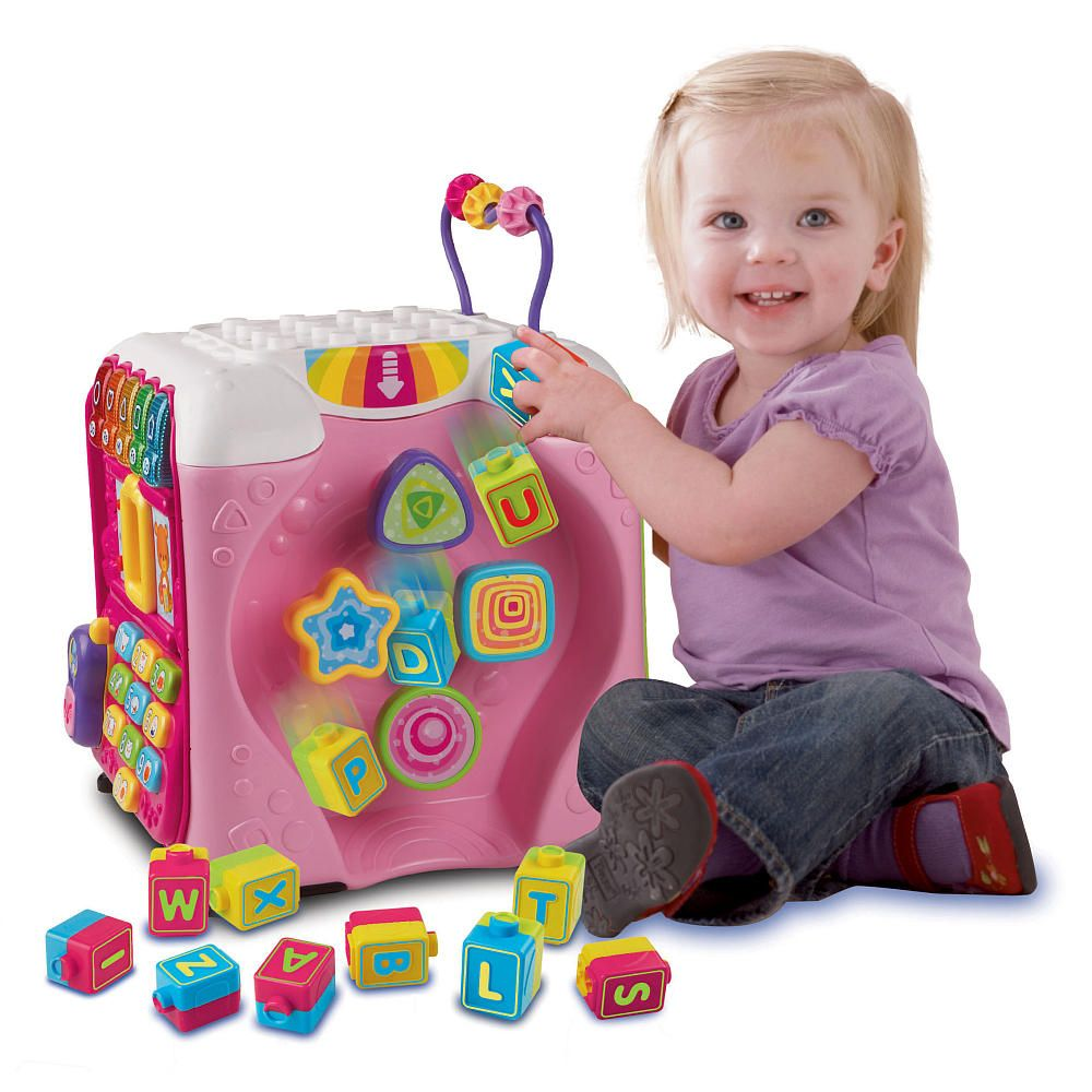 Learning has never been so much fun with the VTech Alphabet Activity Cube – Pink, which offers five large sides of activities, music, letters, lights, games and more.