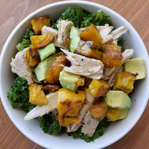 Massaged Kale, Roasted Golden Beet and Avocado Salad height=