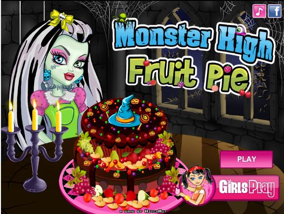 Monster High Fruit Pie Baking Game Monster high cakes