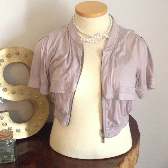 A/X short jacket Lavender Armani Exchange short sleeve cropped sweater Armani Exchange Tops