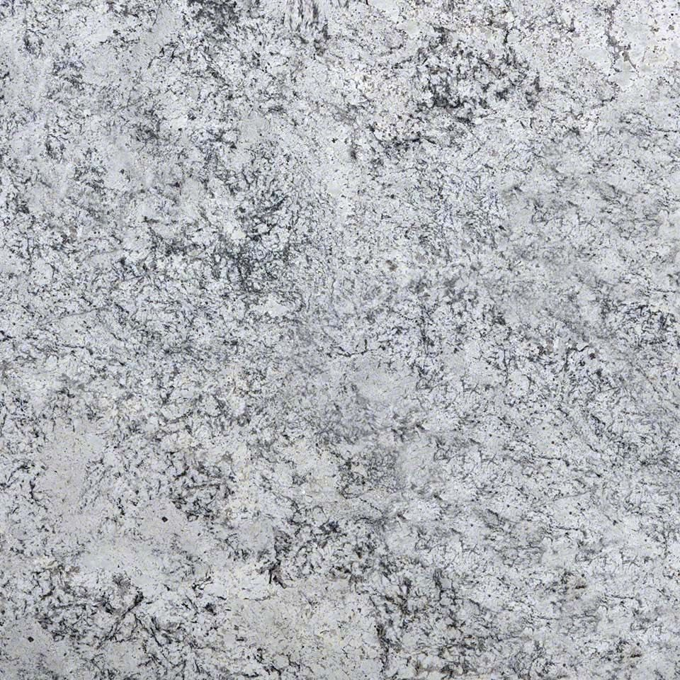 romanix granite slab soft gray background with dark gray
