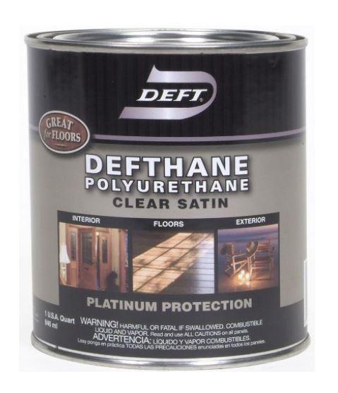 Deft 025 04 Defthane Interior Exterior Clear Polyurethane Satin