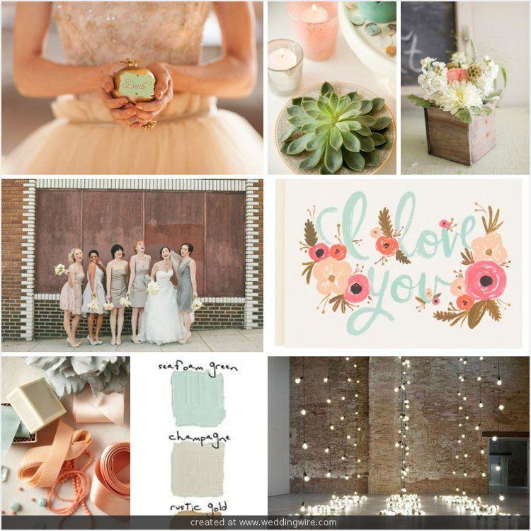 Seafoam Green Wedding Ideas: Wedding Color Board (by Jessica Becker): Sparkle, Neutrals