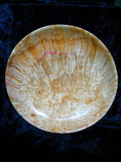 Mulberry Burl Display Bowl High End Woodwork Wood