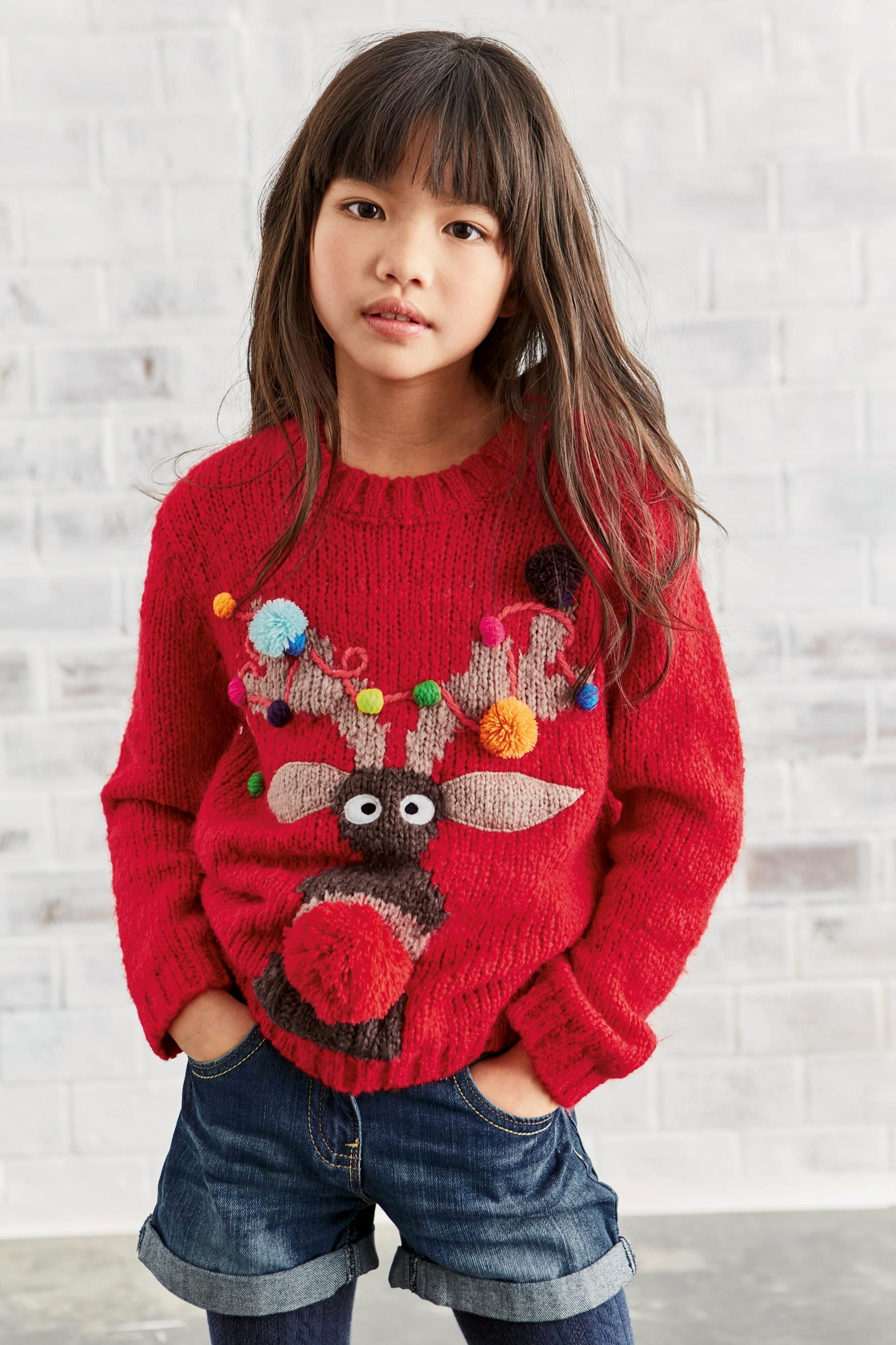 Buy Red Reindeer Christmas Jumper (3-16yrs) from the Next UK online ...