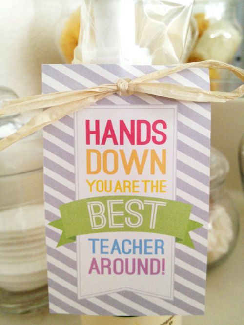 photo relating to Hands Down You Re the Best Teacher Around Free Printable identified as Pin upon Merchandise
