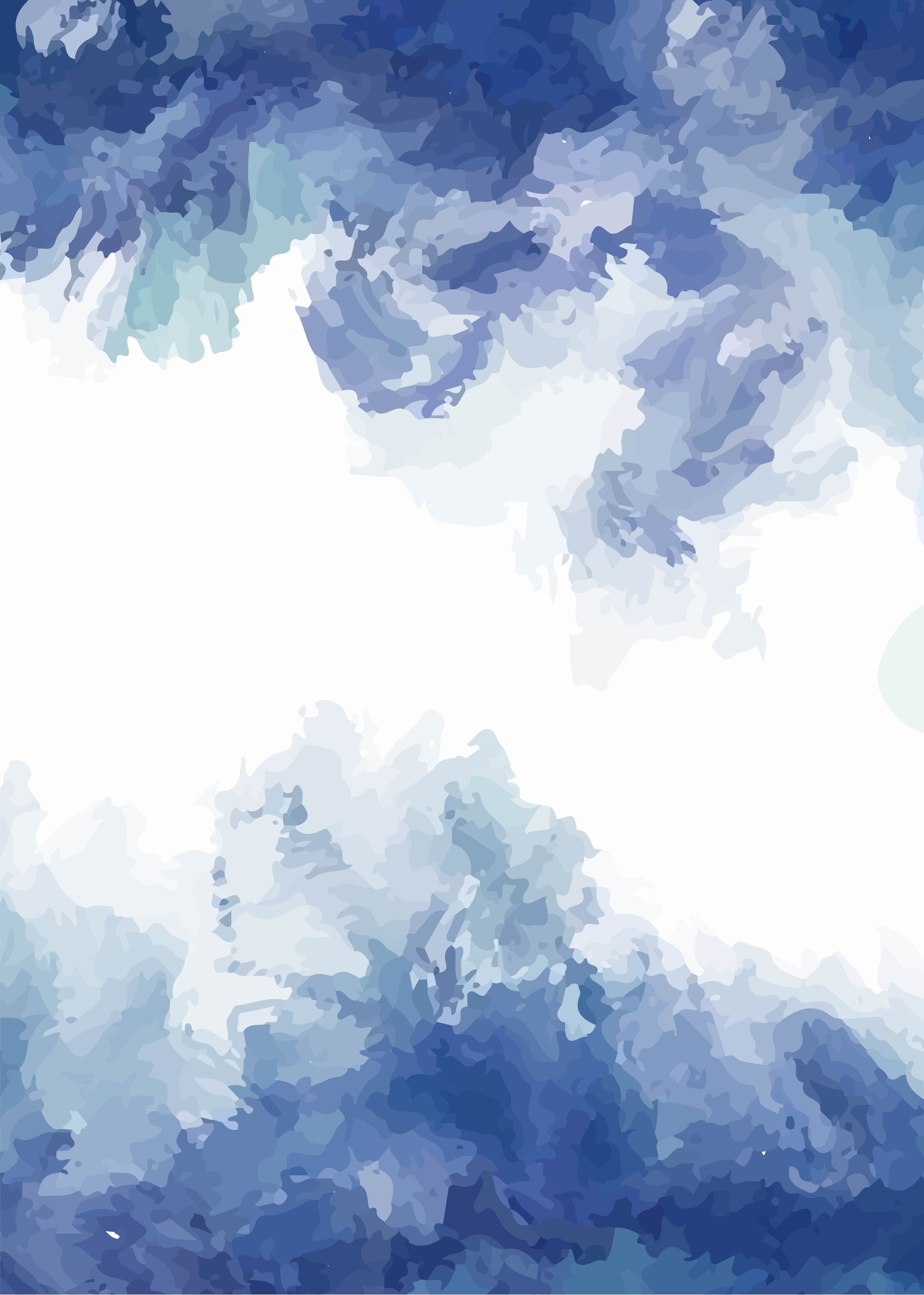 Watercolor Draw Ice Wallpaper Background