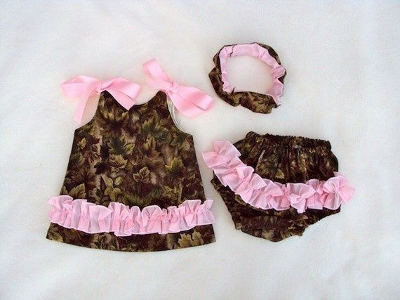 Now Born Baby Camo Dresses | Baby Girl\'s Coming Home Outfit ...