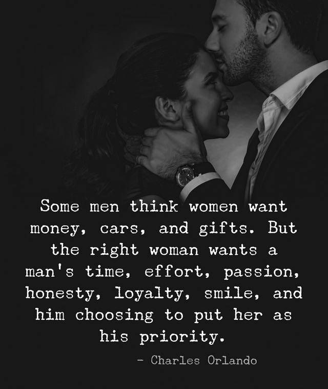 What the Right Woman Wants from Her Man