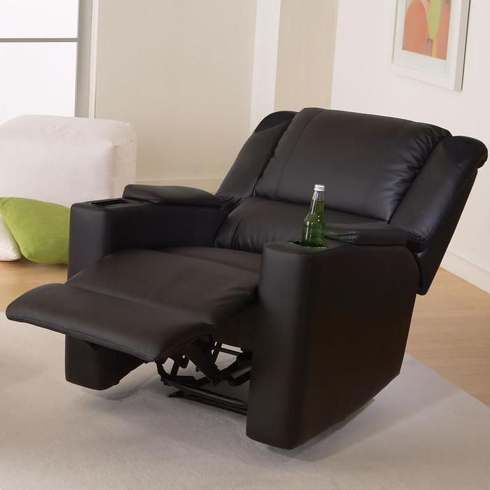 X Rocker Deluxe Gaming And Home Theater Recliner It Reclines Has A Drink Holder Surround Sound Speakers An Farmhouse Table Chairs Home Home Theater Seating