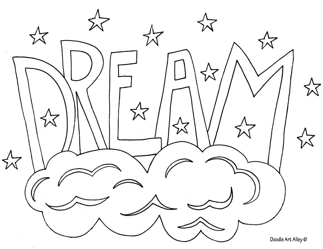 Free printable coloring pages with words - Free Printable Word Coloring Pages From Doodle Art Alley