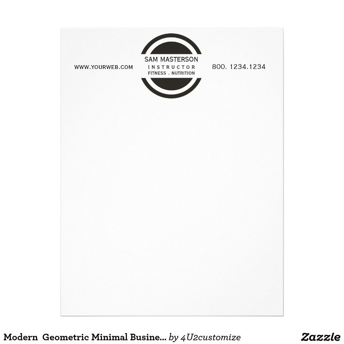 Modern PreMade Logo Design On Professional Business Letterhead