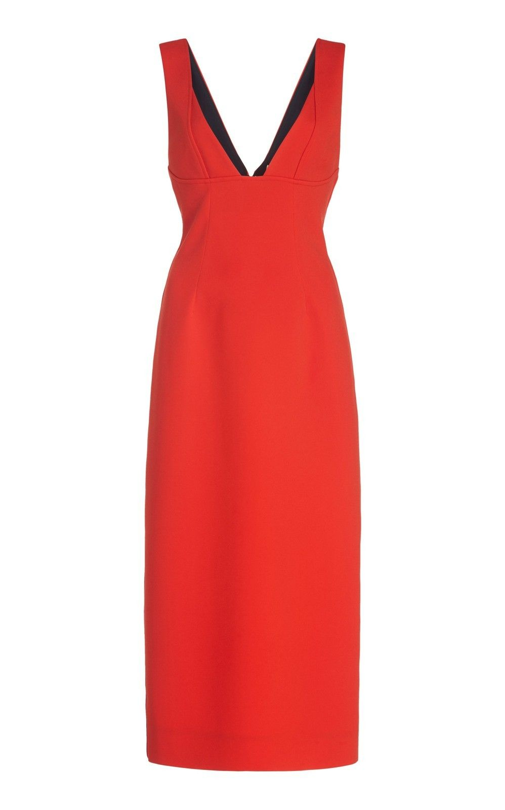 Red Crepe Dress Victoria Beckham Red Dresses Classy Simple Red Dress Classy Dress [ 1380 x 920 Pixel ]