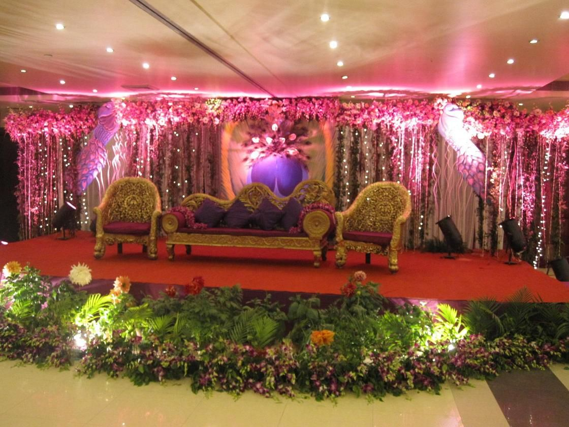 Latest wedding stage decoration  Venue Selections u Decor  HeartiestCongratulations  Pinterest