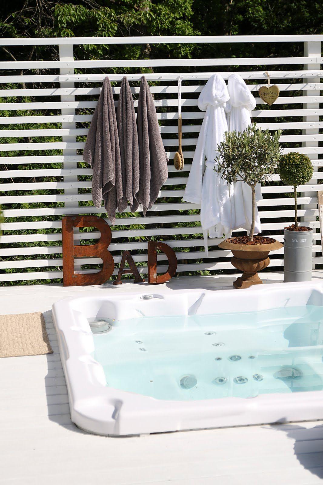 Spabad / Viskan Spa | inspiration Spabad | Pinterest | Spa, Pool ... : skärmvägg altan : Inredning