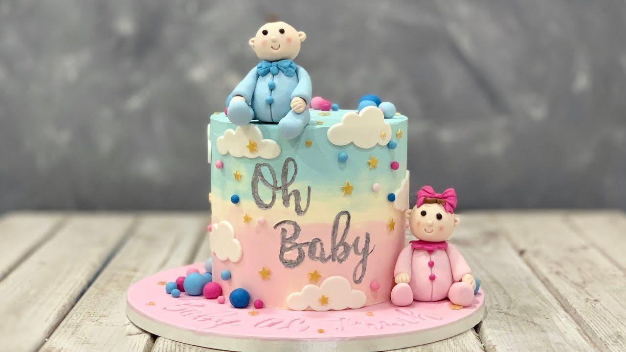 Gender Reveal Cake Youtube Baby Shower Cakes Gender Reveal Cake Baby Reveal Cakes