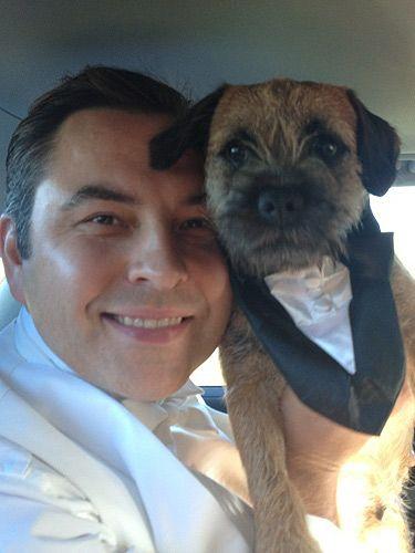 David Walliams Bert Dog Celebrity Dogs Border Terrier