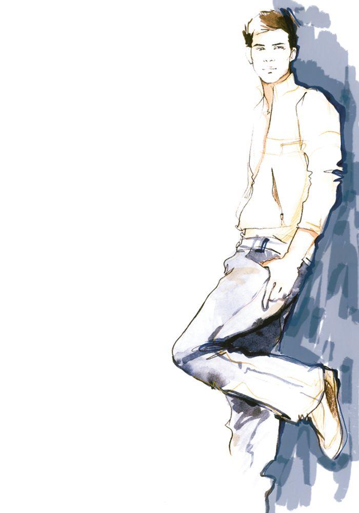 Men's Fashion Illustration by Alena Lavdovskaya