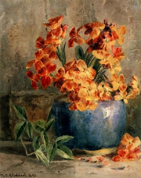 Margaret Stoddart  Wallflowers  Late 19th - early 20th century