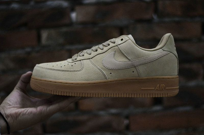 save off d1750 b5b27 Nike Air Force 1 Low 07 Suede Mushroom Gum Brown-Ivory Mens Skate Sneaker  AA1117-200