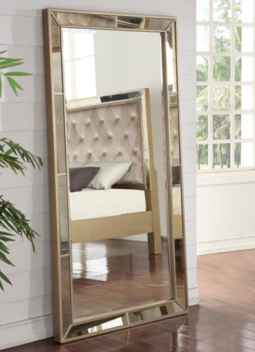 Xl Full Length Floor Mirror Wall Leaning Rectangle Gold Frame Tall
