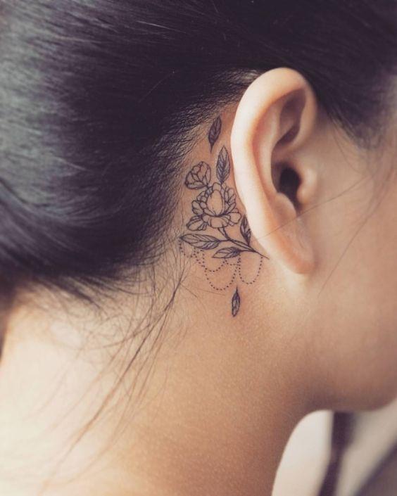 Tatuagens Atrás Da Orelha De 50 Modelos Tatuagens