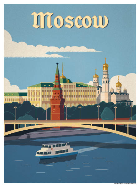 Moscow River Poster Vintage Travel Posters Travel Posters Vintage Travel