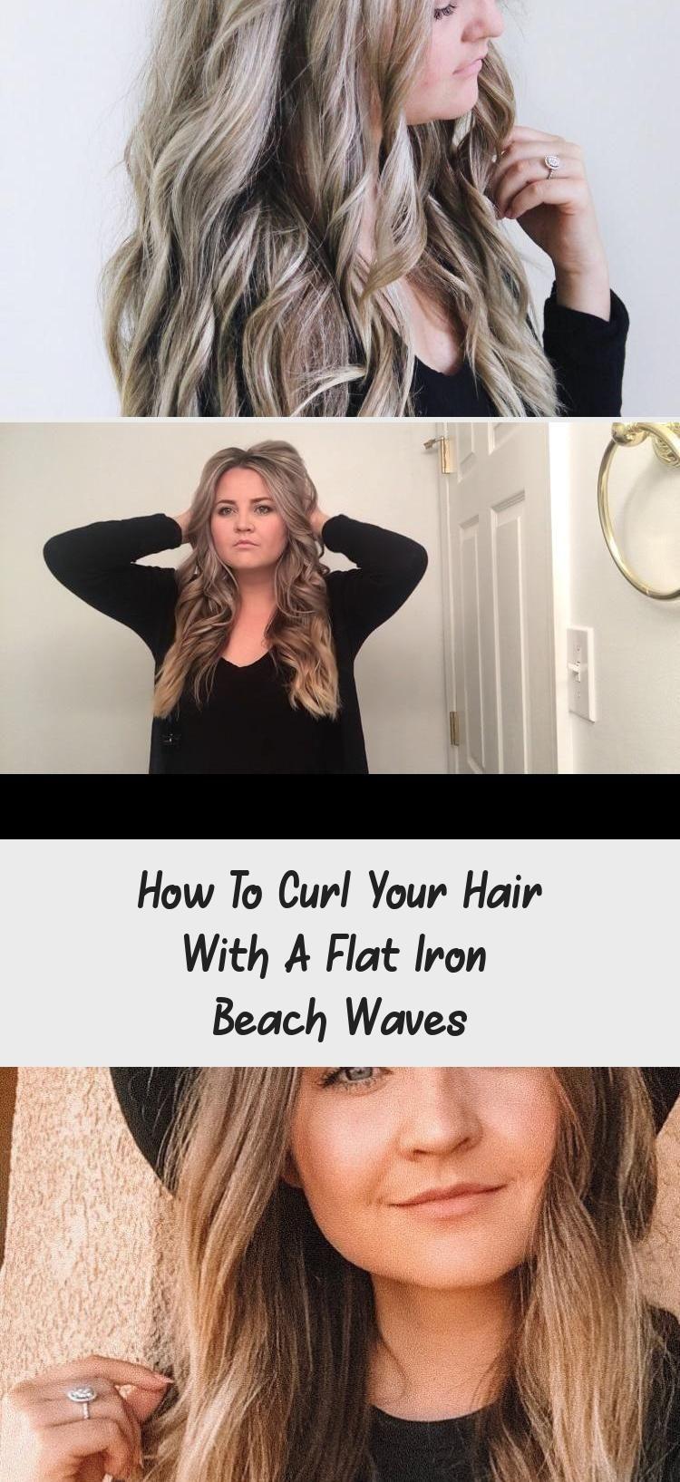 How To Curl Your Hair With A Flat Iron Beach Waves Hairstyle A2vids How To Curl Your Hair Wi In 2020 Wellige Frisuren Kurze Haare Anleitungen Kurze Haare Wellen