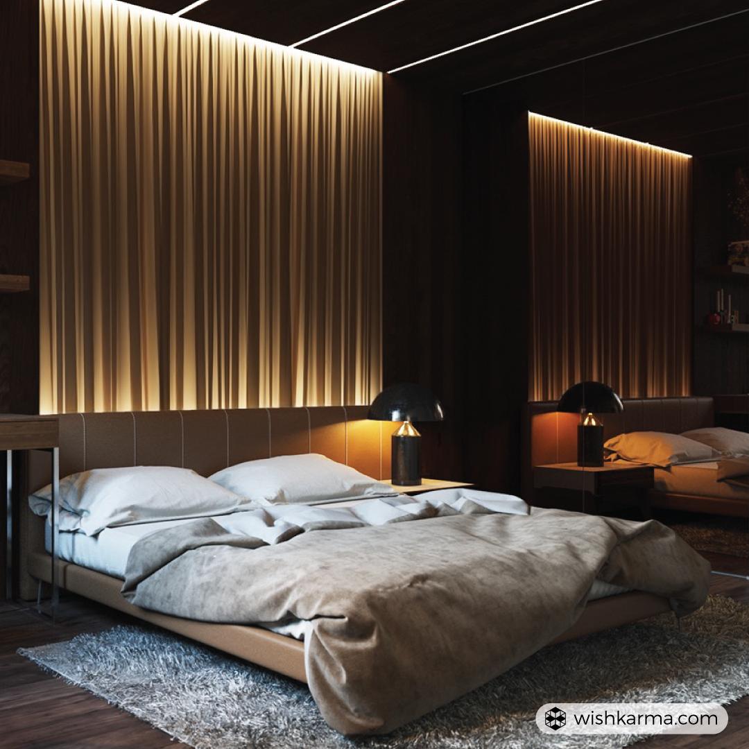 Relaxing bedroom, Bed