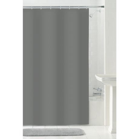 """Water Repellent Fabric Shower Curtain or Liner Grey 70/"""" x 72/"""""""