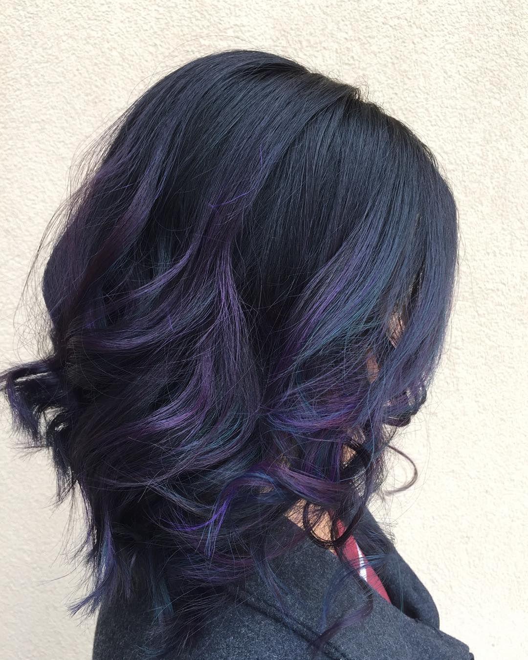 Nadine Eberts On Instagram Another Oil Slick Thanks For Letting Me Play Theresita Pravana Oilslick Oil Slick Hair Gorgeous Hair Color Thick Hair Styles