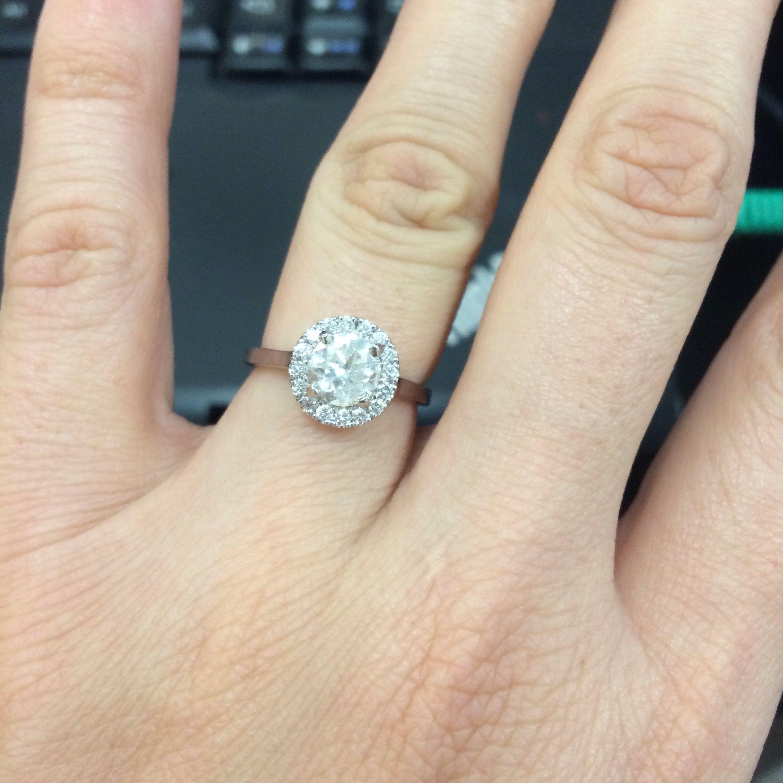 Plain Wedding Band With Micropave E Ring Engagement Ring Plain Wedding Band Big Engagement Rings Plain Wedding Band