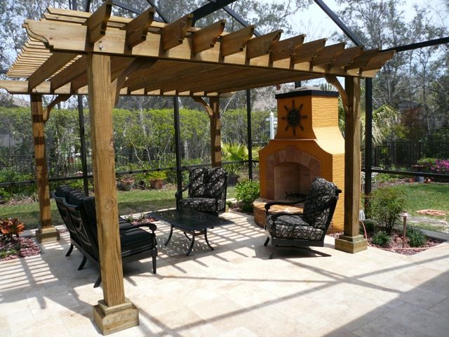 Custom outdoor pergolas home remodeling services in south for Open pergola designs