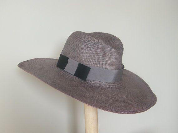 d59f6bbebdf Large bluish grey panama hat for men men's Fedora by RanaHats ..... Remove  the ribbon and make it black