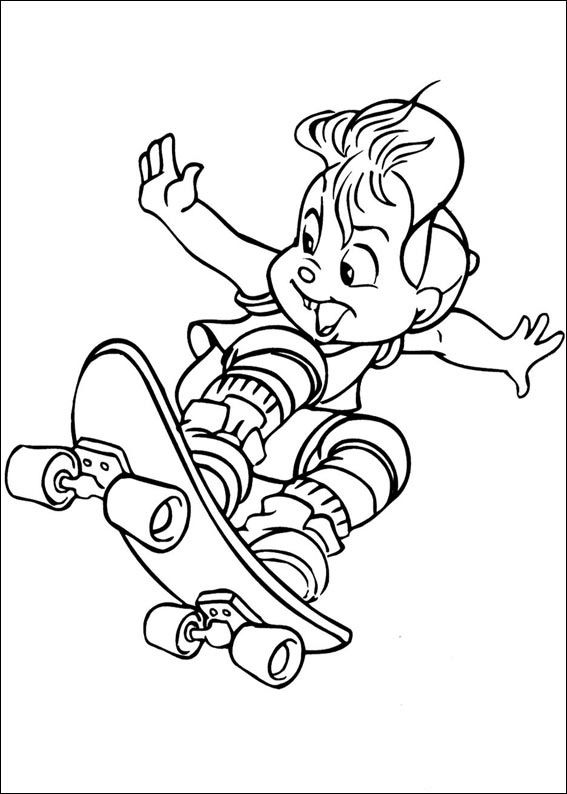 Dibujos para Colorear Alvin y las Ardillas 3 | Dibujos para colorear ...