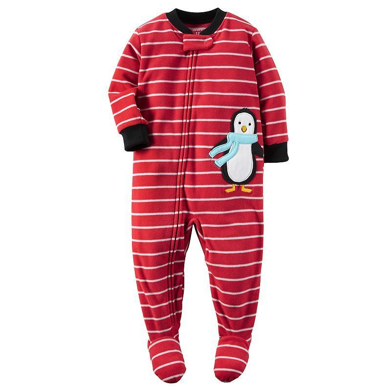 6b754abca Baby Boy Carter s Animal Fleece Footed Pajamas
